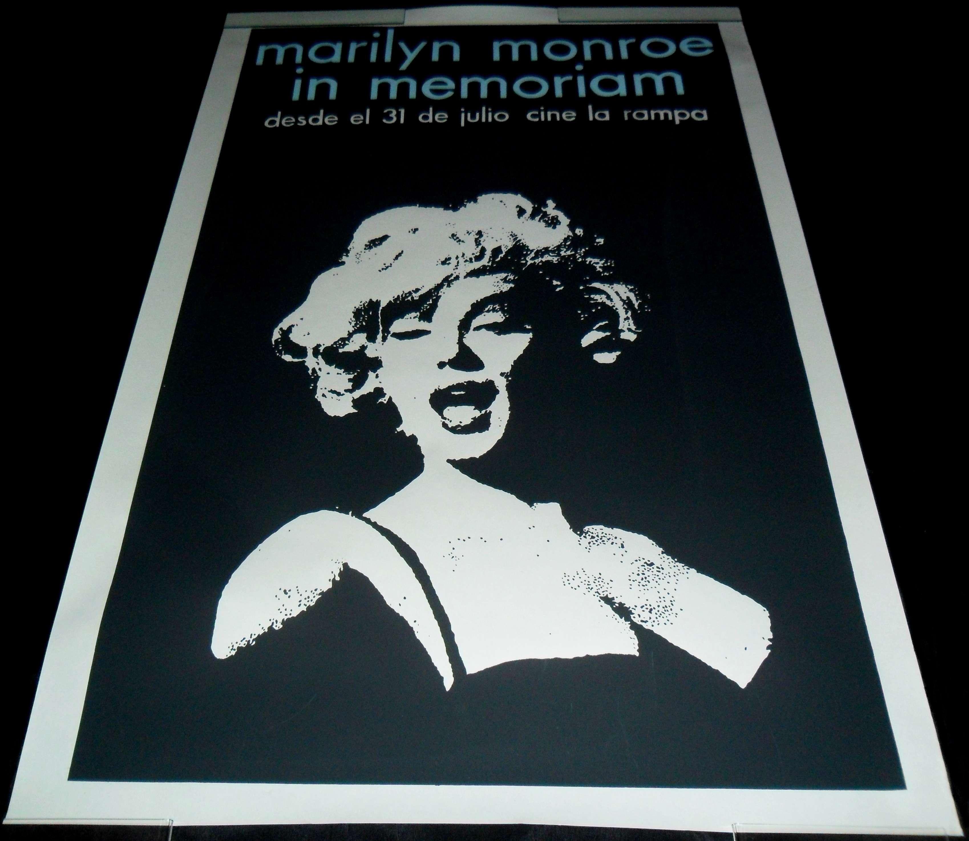 Marilyn Monroe In Memorian ORIGINAL CUBAN TRIBUTE POSTER ...