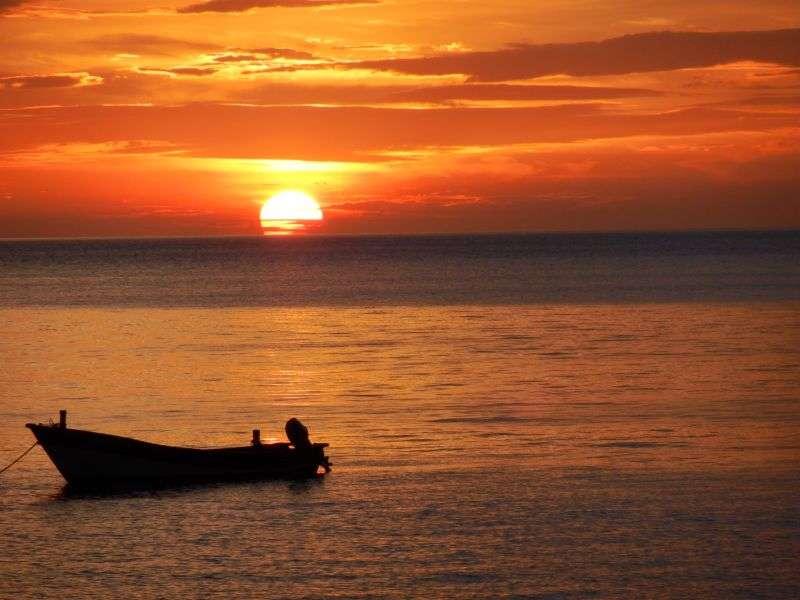 Sonnenuntergang Long Beach Koh Lanta