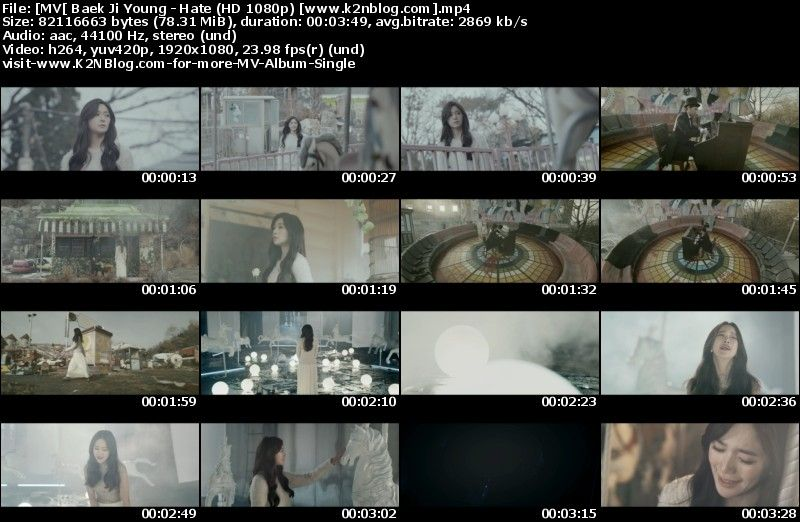[MV] Baek Ji Young - Hate (HD 1080p Youtube)