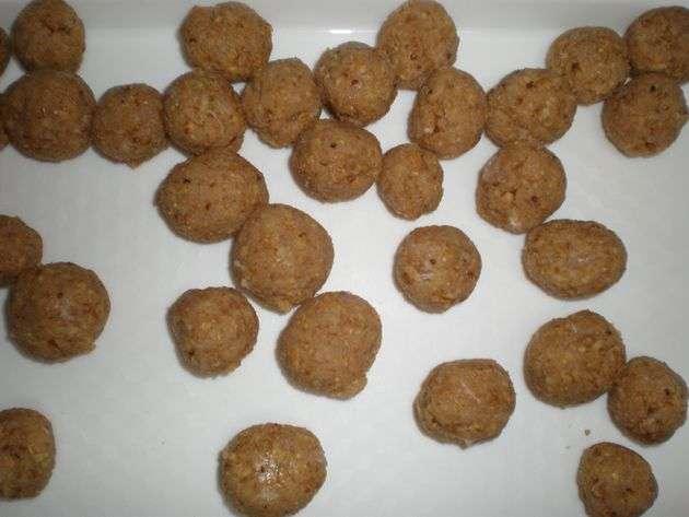 minialbondigas - Sopa de mini albóndigas de pollo