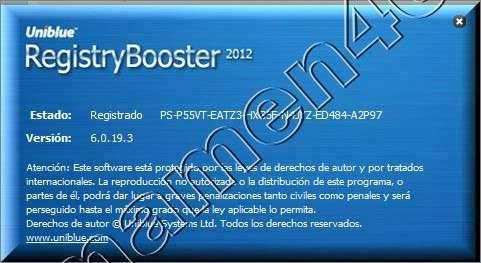 Информация о программе Название: RegistryBooster 2010 4.7.7.19 Год выпуска: