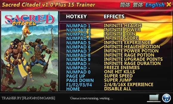 Sacred Citadel +15 Trainer [FliNG]