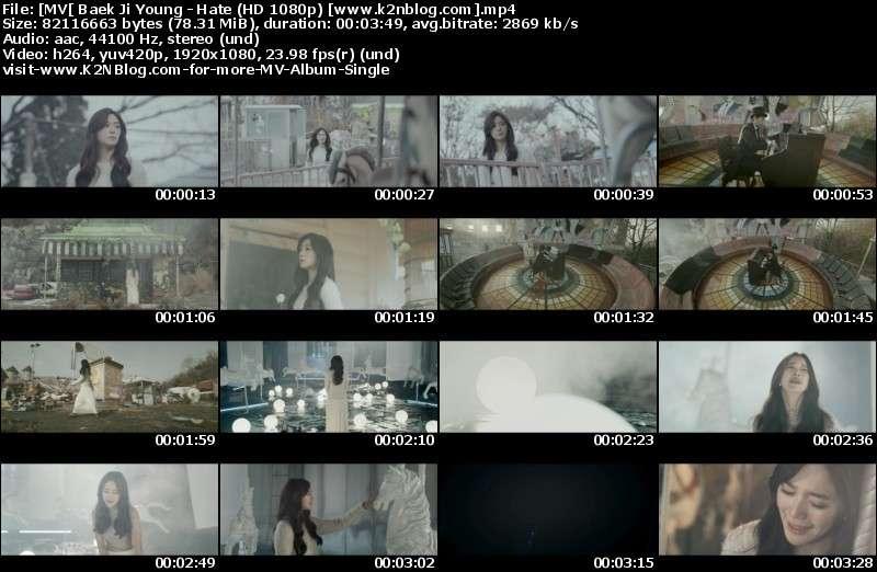 [MV] Baek Ji Young - Hate (HD 1080p Youtube)